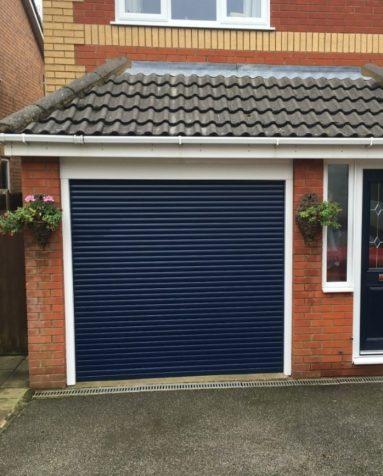 Navy Single Roller Garage Door