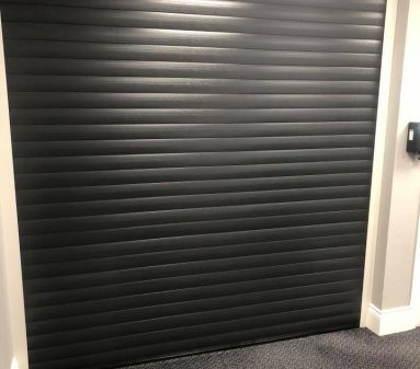 Internal black roller door